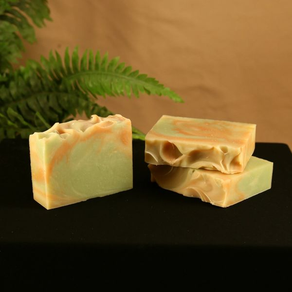 Fire and Rain (Ginger & Bergamot) Handmade Soap