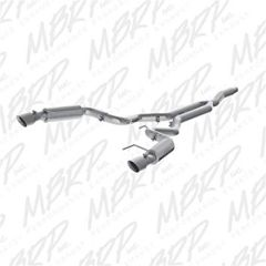 """2015+ Ford Mustang Ecoboost MBRP Race Exhaust System T409 with dual 4.5"""" tips"""