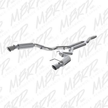 "2015+ Ford Mustang Ecoboost MBRP Race Exhaust System T409 with dual 4.5"" tips"