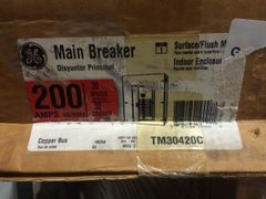 GE MAIN CIRCUIT BREAKER 200 AMP TM30420C NOS