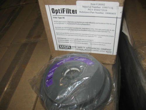 CASE 10080455 MSA OPTIFILTER HE CARTRIDGES 10072633 NEW