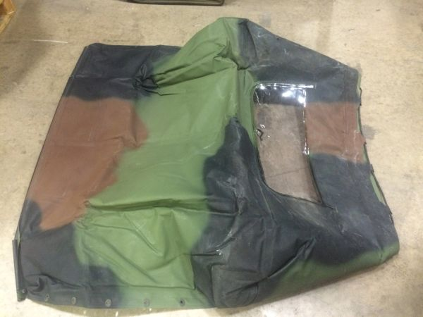 2-1/2 TON, M44A2 SOFT TOP CAMO FITTED COVER 12450214-1, 2540-01-413-3143 NOS