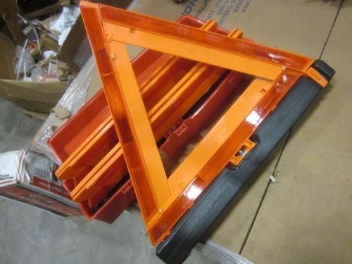 3 ROADSIDE TRAFFIC TRIANGLES GOOD CONDITION