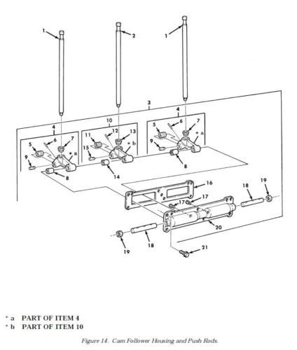 M809 CAM FOLLOWER SOCKET 213559 NOS