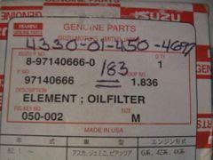 1 ISUZU FILTER 8-97140666-0 NOS