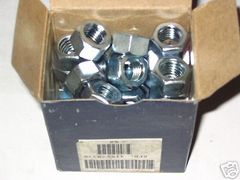 50 ROCKFORD STEEL NUTS 1/2-13 ZINC AND CHROMATE FINISH