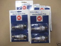 4 AC DELCO MARINE SPARK PLUGS VB40FFM NEW