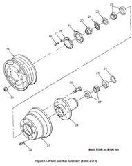 M101 WHEEL AND HUB GASKET 7339403, 5330-00-629-4961 NOS