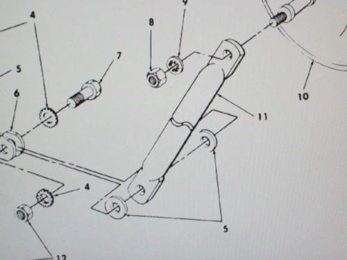 M151A2 JEEP REAR VIEW MIRROR ARM 10950861, 2540-00-054-7250 NOS