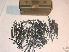 """1 BOX OF 100 ASSORTED STEEL COTTER PINS 1/16"""" THROUGH 1/2"""" NEW"""