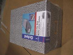 "OXFORD 5"" X 8"" INDEX CARD FILE BOX 40590 NEW"