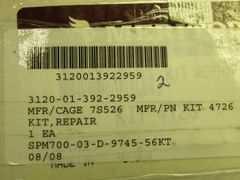M1078 REPAIR PARTS KIT KIT 4726, 3120-01-392-2959 NOS