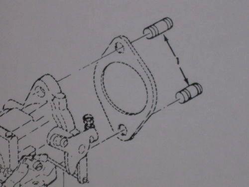 M151 JEEP CARBURETOR MOUNT STUDS MS51864-104-16, 5307-01-006-5515 NOS