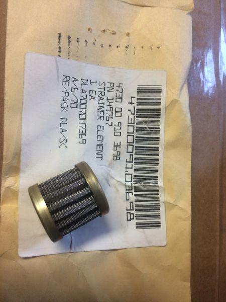 M809 5 TON FUEL PUMP STRAINER 149767 NOS