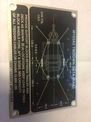 M103A3 TIEDOWN DATA (RAIL) PLATE 12355971, 9905-01-366-0634 NOS