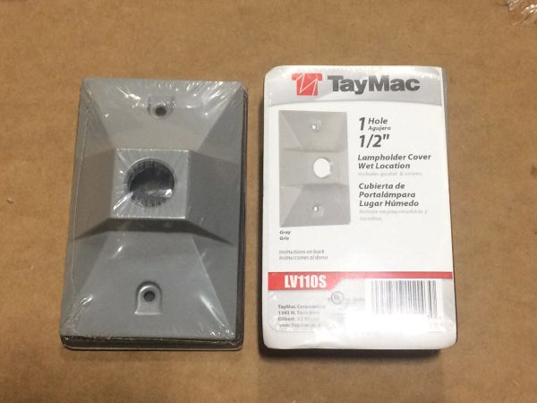 TAYMAC RECTAGULAR 1 HOLE LAMP HOLDER COVER LV110S NEW