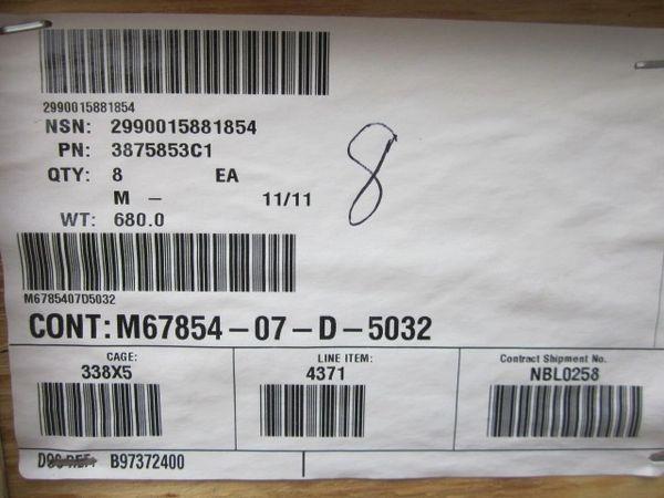MRAP MAXXPRO EXHAUST MUFFLER ASSY 3875853C1, 2990-01-588-1854 NOS
