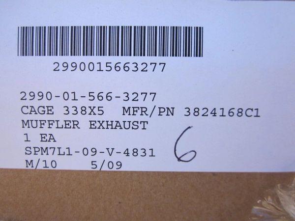 MRAP MAXXPRO EXHAUST MUFFLER 3824168C1, 2990-01-566-3277 NOS