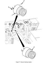 M1078 LOW AIR BUZZER ALARM SC628, 6350-00-102-4210 NOS