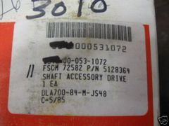 DETROIT DIESEL SHAFT ACCESSORY DRIVE 5128364 NOS
