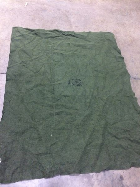 """MILITARY ISSUED FIRE RETARDANT WOOL BLANKET 62"""" X 80"""" NOS"""