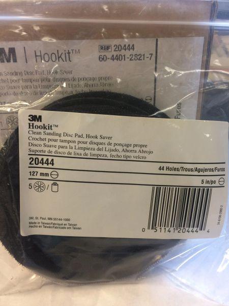 1 PKG 3M HOOKIT CLEAN SANDING DISC PADS 20444, 60-4401-2821-7 NEW