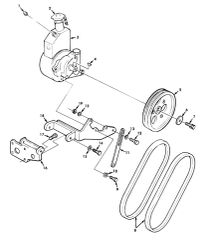 M800 SERIES POWER STEERING PULLEY 11664244, 3020-00-134-7946 NOS