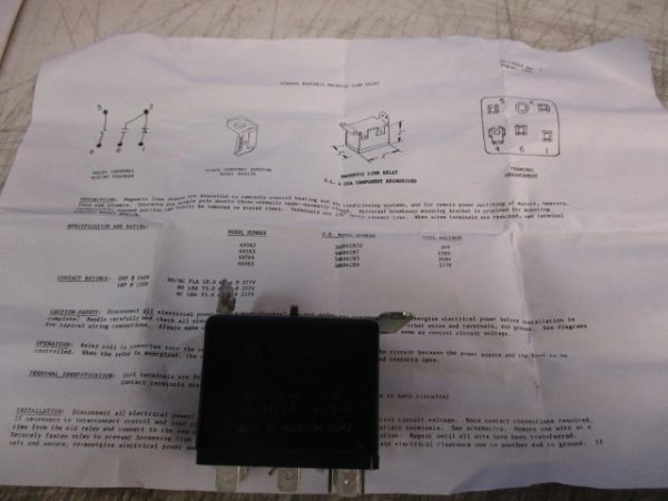 1 GENERAL ELECTRIC 3ARR4CR5 RELAY NOS