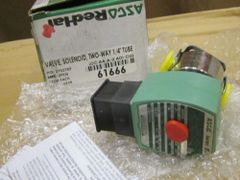 """ASCO RED HAT TWO-WAY 1/4"""" TUBE SOLENOID VALVE NEW"""