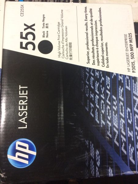 HP LASERJET 55X PRINTER CARTRIDGE CE255X BLACK NEW