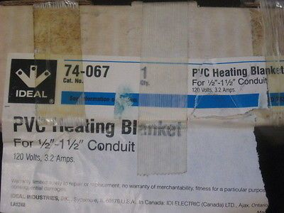 "IDEAL 74-067 PVC HEATING BLANKET FOR 1/2"" - 1-1/2"" CONDUIT NEW"