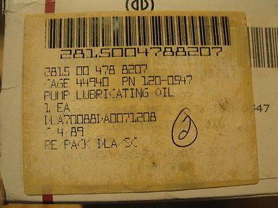 ONAN OIL LUBRICATING PUMP 120-0547 NOS