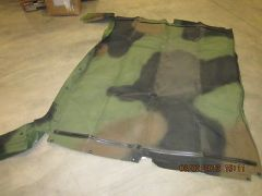 M998 FOUR MAN SOFT TOP COVER, CAMO, 12340676-31, 2540-01-450-4019 NOS