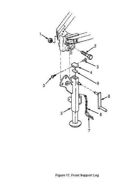 M101 SEMITRAILER RETRACTABLE SUPPORT LEG 12436705, 2590-01-388-0958 NOS