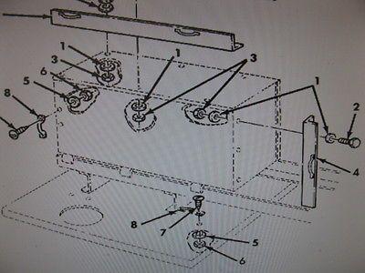 M809 MUD FLAP REAR ANGLE BRACKET 12356745-1 NOS