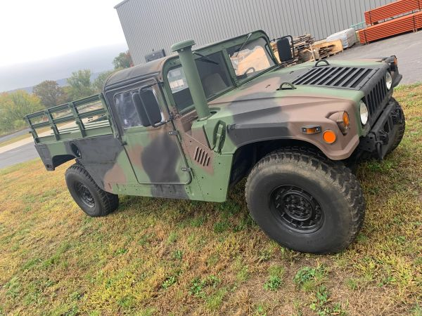 2005 AM GENERAL CAMO M1123 HUMMER, 2-MAN WITH SOFT TOP ASSEMBLY