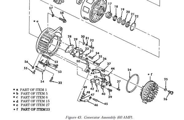 M998 A1 HUMMER GENERATOR KIT SAW-11684131, 2920-01-168-4131 NOS M Amp Wiring Diagram on