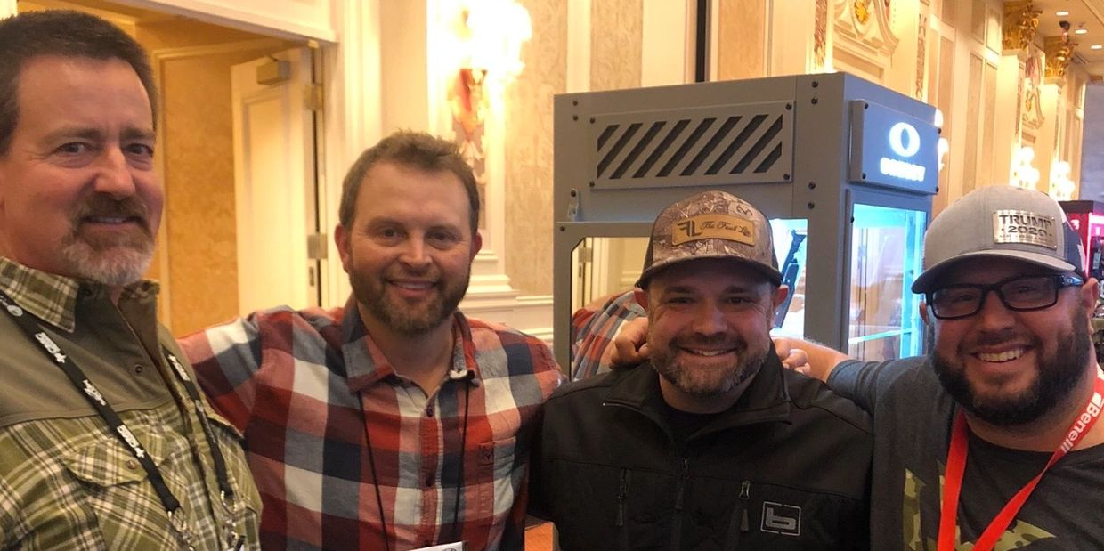 Art Tucker, Michael Waddell, Chad Belding and Clay Belding at SHOT Show 2020