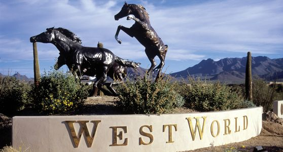 entrance sign to westworld scottsdale