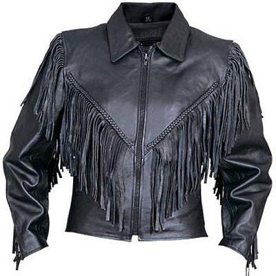 AL2155-Womens Fringe Motorcycle Jacket