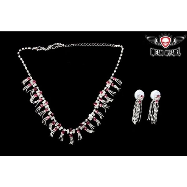 Women's Necklace With Earrings