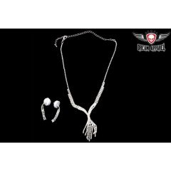 Womens Small Necklace With Earrings