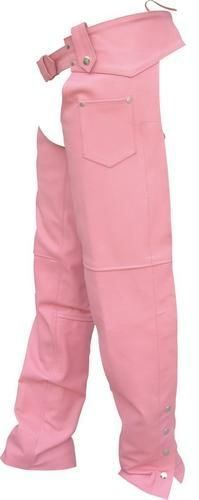 Ladies Pink Plain Motorcycle Chaps