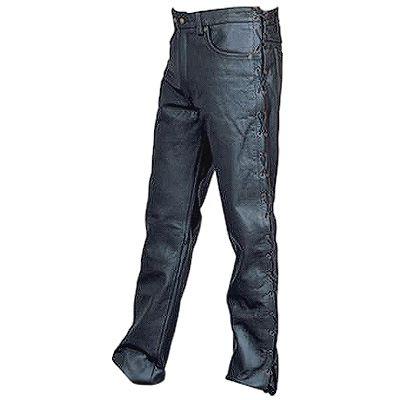 AL2502-Mens Side Laced Leather Pants