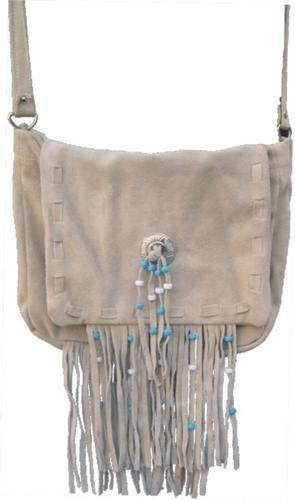 AL3300-Brown Suede Leather Handbag