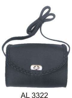 Ladies Braided Shoulder Bag Metal Closure