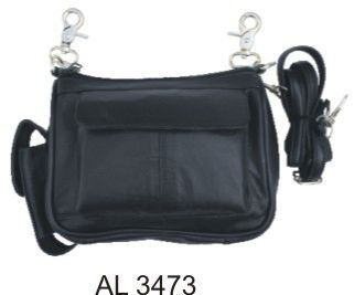 Ladies shoulder bag with cell phone pouch