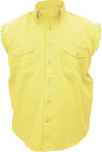 Mens Yellow Sleeveless Shirt