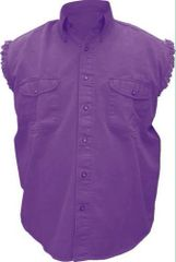 Mens Purple Sleeveless Shirt