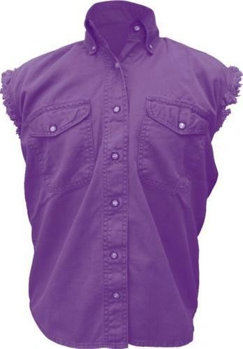 Ladies Purple Sleeveless Shirt